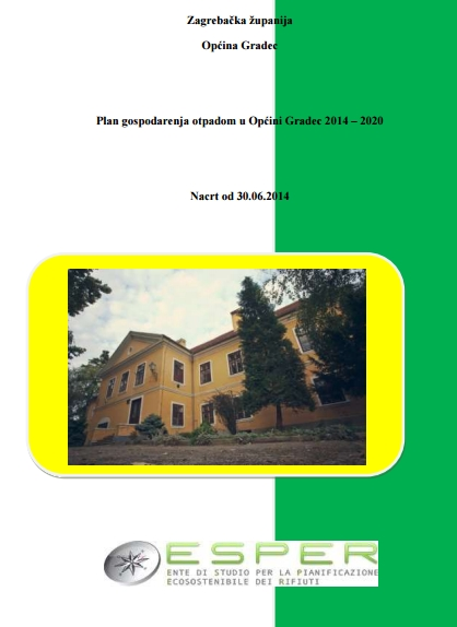 Plan Gospodarenja otpadom Općine Gradec 2014-2020