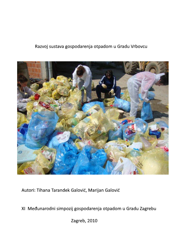 Razvoj sustava gospodarenja otpadom u Gradu Vrbovcu